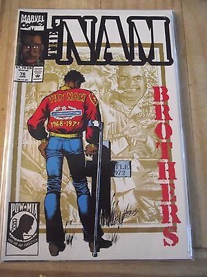 The 'Nam #76 Brothers Marvel takes on the Vietnam war HTF (1992) FN