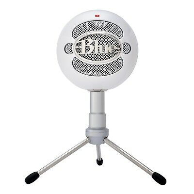 Blue Snowball Microphone Ice Usb Aluminum Stand Studio Brushed Mic New - White