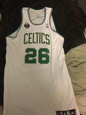 2008-09 Boston Celtics Patrick O'Bryant GAME USED Worn auto RING CEREMONY JERSEY