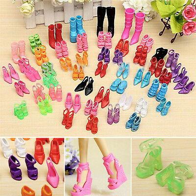 New 80PCS 40 Pairs High Heel Sandals Shoes For Barbie Doll Toy Priness Shoes NS