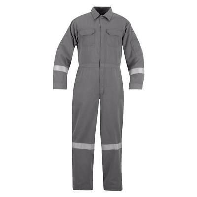 Flame Resistant FR Coveralls - Gray 48% modacrylic, 37% lyocell, 15% aramid