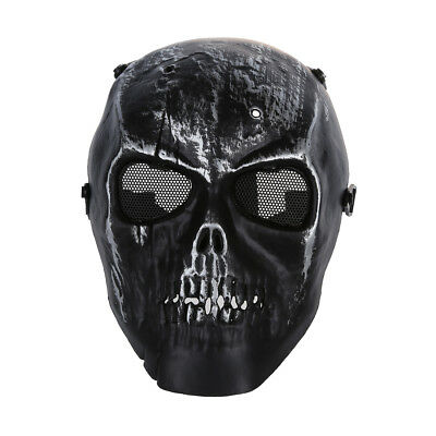 Skull Skeleton Airsoft Paintball Full Face Protect Mask Z8L5