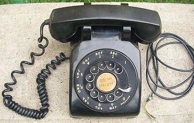 "Bell System Western Electric Rotary ""METAL"" Dial Telephone Black Desk Phone"