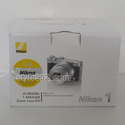 Original Nikon 1 J5 Mirrorless Digital Camera + 10-30mm Lens Kit Silver