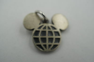 Vintage Sterling Silver Epcot Center Mickey Mouse Ears, Disney Charm.