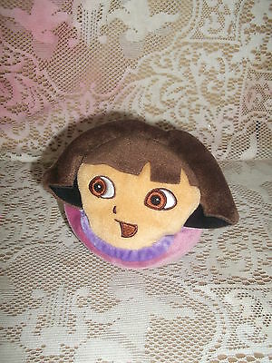 "5"" x 4 1 /2""  Dora the Explorer Plush Character Wallet - Boots on the reverse"