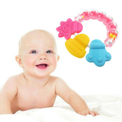 Baby Safety Toddler Teether Biting Teeth Stick Teething Chew Toy Rattle Silicone