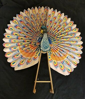 Chinese Paper Peacock Fan
