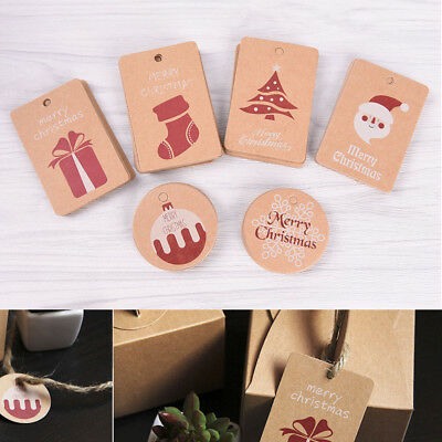 20pcs Kraft Paper Tags Gift Price Craft Card Name DIY Tags Christmas Favor