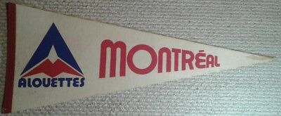 Vintage Montreal Alouettes CFL Full Size Pennant