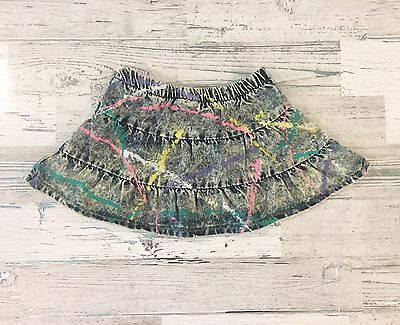 Awesome 80's Girls Painted Denim Mini Skirt Size 4T