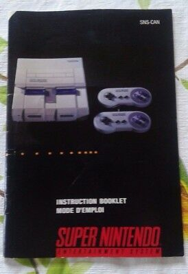 SNES Manual / Booklet instruction (Super Nintendo Entertainment System) CAN