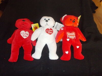 Set of Love Beanie Kids - Hug, Kiss and Crush - 1999 & 2001