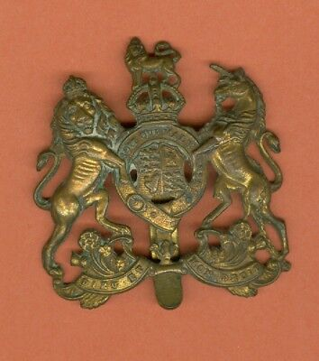World War I British Army General Service Corps Brass Hat Badge - Vintage