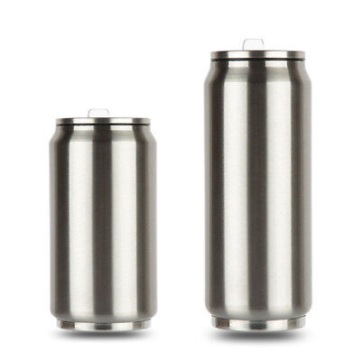 500ml Thermos Coffee Can Cup Stainless Steel Tumbler Travel Mug With Straw