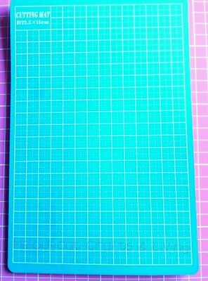 Craft Scrapbook Cutting Mat Rectangular Self Healing Aqua 22.5cm x 15cm Aqua