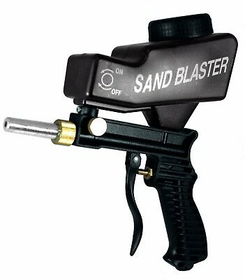 LEMATEC Gravity Feed Portable Sandblasting Gun for remove rust Black Air Tools