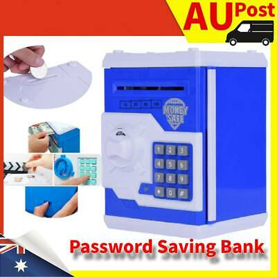 Password Lock Kids Electronic Money Safe Box Saving Bank ATM for Coins and Bills