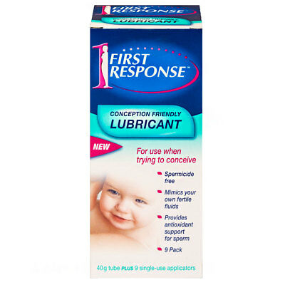 First Response Conception Friendly Lubricant 40G Tube Plus 9 Applicators