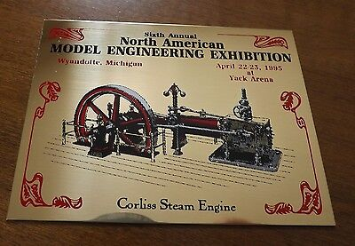 6th Annual North American Model Engineering Exhibition Brass Plaque