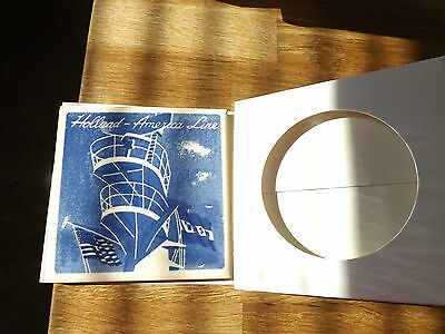 """Holland - America Line Old Glory Flying Delft Tile 1/8"""" Thick Nice Condition"""