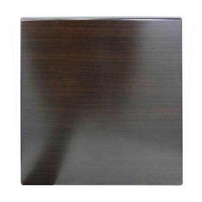 New Isotop Outdoor Restaurant Cafe Bar Table Top Square 700mm Dark Walnut
