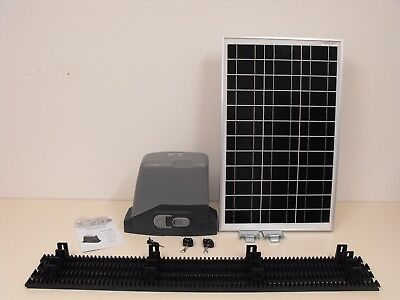 Sliding Gate Motor-40W Solar Panel-Gear Rack-Remotes-Diy Kit Brand New