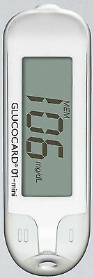 Compact Blood Glucose Test Meter GLUCOCARD 01-Mini FREE SHIPPING