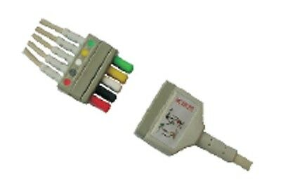 Detachable 5 Lead ECG Cable Compatible with Mindray / L & T FREE SHIPPING