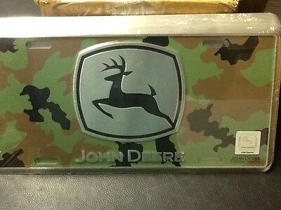 Camo John Deere License Plate New-sealed free shipping-metal