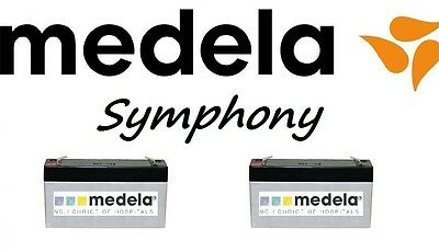 Medela Symphony Plus 0240208 Replacement Battery Packs Includes 2 + Instructions