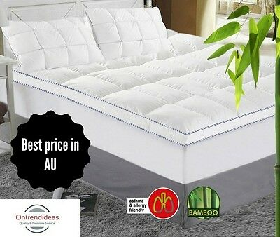 $69.95 ALL SIZES |1000GSM Luxury Bamboo Mattress Topper | 100% Cotton | Ramesses