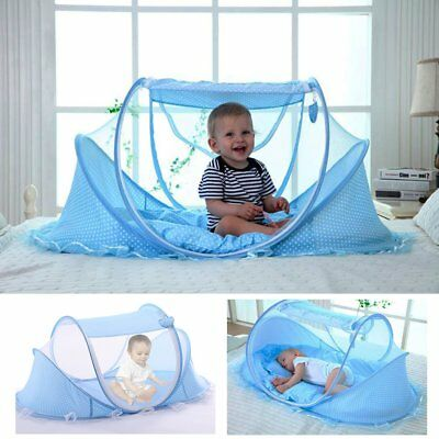 YOUDirect Baby Travel Bed - Foldable Zippered Baby Mosquito Net Soft Crib