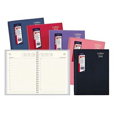 Diary Collins Vanessa A4 Day To Page - Red - 2018