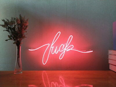 New Fu*k Neon Sign For Bedroom Wall Art Home Decor Artwork Light With Dimmer