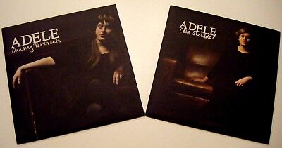"""ADELE 2 X 7"""" Vinyl Single CHASING PAVEMENTS / COLD SHOULDER #NEW/UNPLAYED#"""
