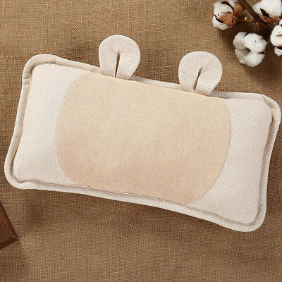 Soft  Pillow Natural Color Baby Infant Shaping Pillows Removable Pillowcase New