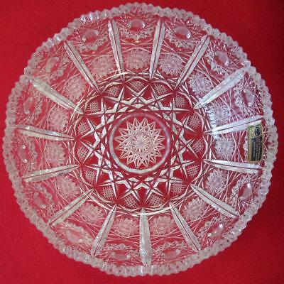 Lausitzer Lead Crystal Bowl - Hand Cut 24% Lead Oxide - Made in Germany - 16cm