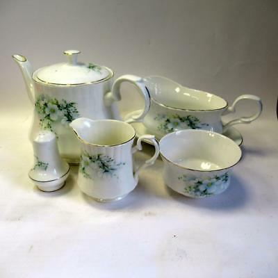 Royal Stafford Blossom - Teapot - MilkJug - Sugar Bowl - Gravy Boat - Pepper Pot
