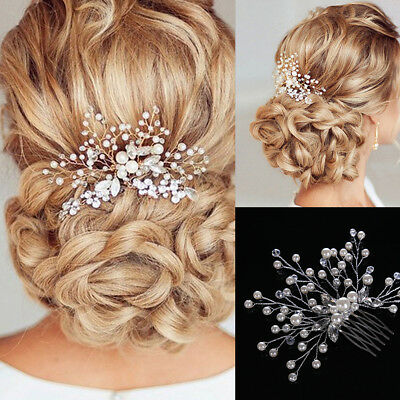 Elegant Bridal Wedding Crystal Jewelry Diamante Hair Comb Pin Piece Clip Slide