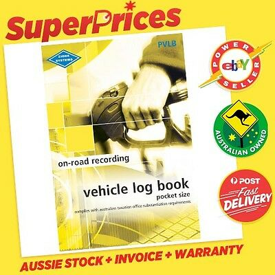 Zions◉Pvlb Vehicle Log Book◉Pocket Size◉64 Pages◉Ato Compliant◉Car Truck◉Account