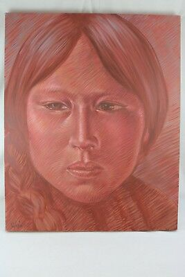 """Jon Lightfoot Signed Original Oil on Canvas Painting """"Magda of Tesuque"""""""