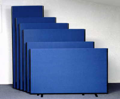 *NEW* Linking Office Partition Room Divider Screens - Black, Grey or Royal Blue