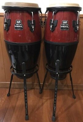 Meinl Congas Duo 20th Anniversary Set Red Wine 11' & 10' VGC