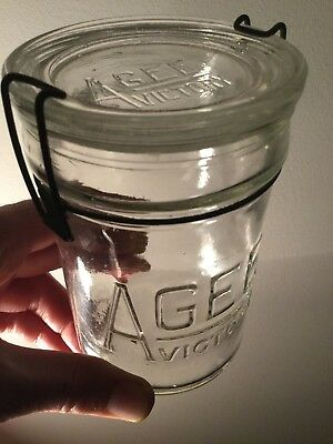 AGM Vintage Sml Agee Victory Jar & Glass Lid