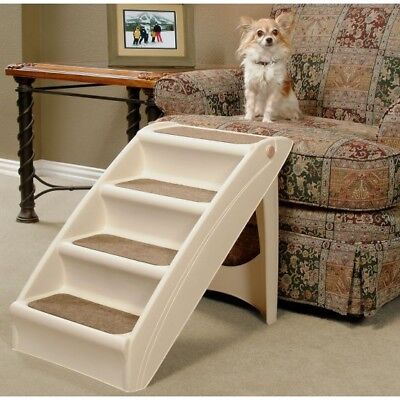 Solvit Pupstep Plus Dog Stairs Pet Steps Indoor Stairs for Cats Dogs