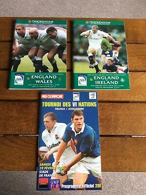 England Rugby Programmes Six Nations 2000