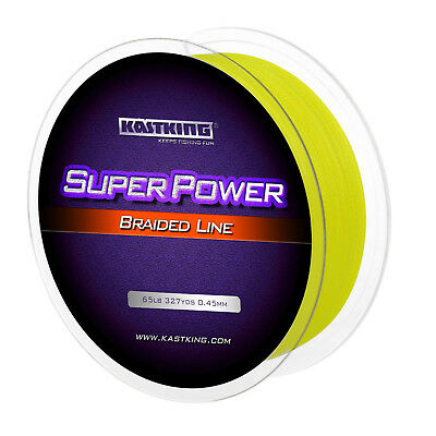 KastKing SuperPower Braid Fishing Line Yellow Spectra Dyneema PE Braid Superline
