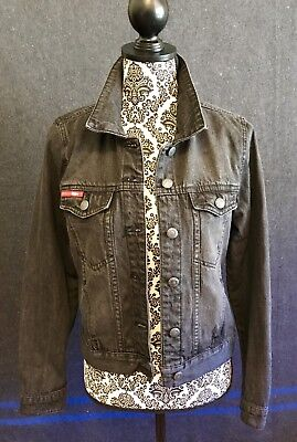 LEE COOPER Stone-Washed Black Denim Jacket - Women's Size 10