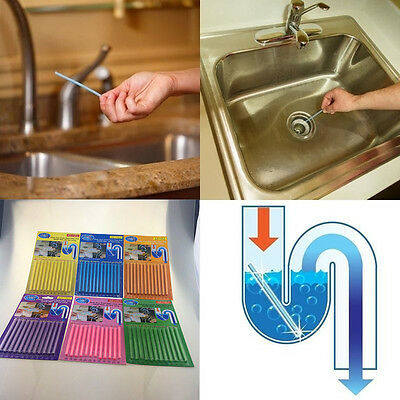 12pcs Sani Sticks Soap Keep Drain Pipes Clean Bar Odor Free Cleaning Products